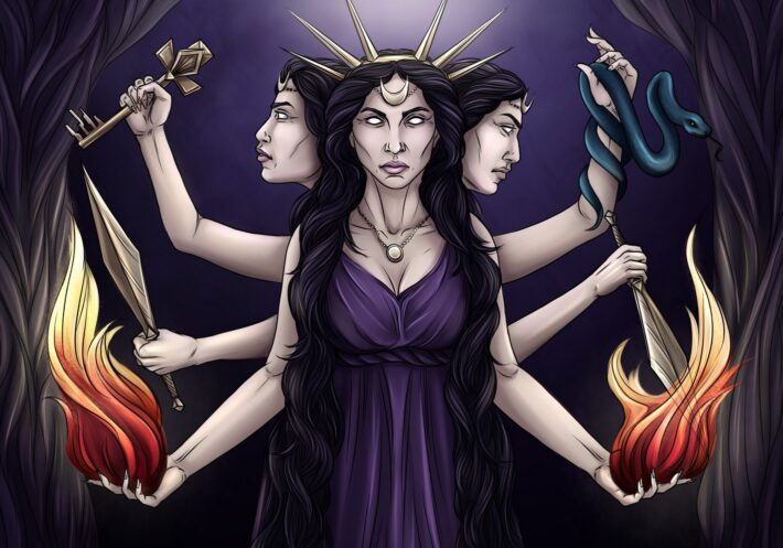 Hecate Goddess Of Magic, Witchcraft, And Necromancy